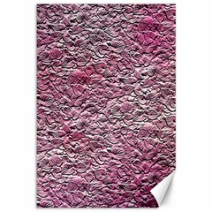 Leaves Pink Background Texture Canvas 12  x 18