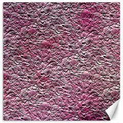 Leaves Pink Background Texture Canvas 20  x 20