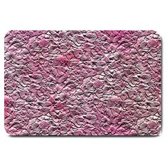 Leaves Pink Background Texture Large Doormat