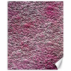 Leaves Pink Background Texture Canvas 11  X 14