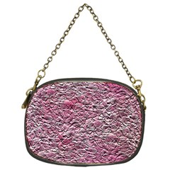 Leaves Pink Background Texture Chain Purses (one Side)