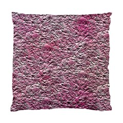 Leaves Pink Background Texture Standard Cushion Case (one Side)