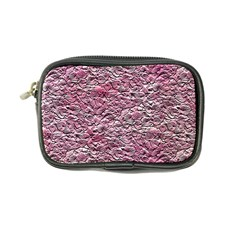 Leaves Pink Background Texture Coin Purse
