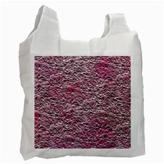Leaves Pink Background Texture Recycle Bag (Two Side)