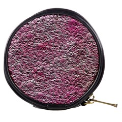 Leaves Pink Background Texture Mini Makeup Bags
