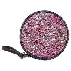 Leaves Pink Background Texture Classic 20 Cd Wallets