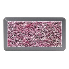 Leaves Pink Background Texture Memory Card Reader (mini)