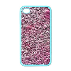 Leaves Pink Background Texture Apple iPhone 4 Case (Color)