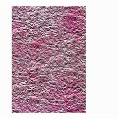 Leaves Pink Background Texture Small Garden Flag (Two Sides)