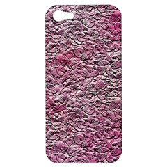 Leaves Pink Background Texture Apple Iphone 5 Hardshell Case