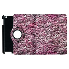 Leaves Pink Background Texture Apple Ipad 2 Flip 360 Case