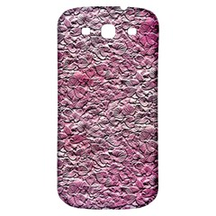 Leaves Pink Background Texture Samsung Galaxy S3 S Iii Classic Hardshell Back Case