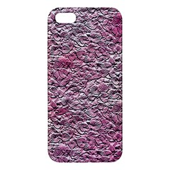 Leaves Pink Background Texture Apple iPhone 5 Premium Hardshell Case
