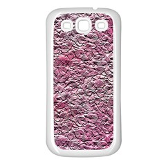 Leaves Pink Background Texture Samsung Galaxy S3 Back Case (white)