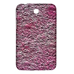 Leaves Pink Background Texture Samsung Galaxy Tab 3 (7 ) P3200 Hardshell Case