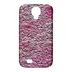 Leaves Pink Background Texture Samsung Galaxy S4 Classic Hardshell Case (pc+silicone)