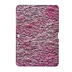 Leaves Pink Background Texture Samsung Galaxy Tab 2 (10 1 ) P5100 Hardshell Case