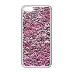 Leaves Pink Background Texture Apple iPhone 5C Seamless Case (White)