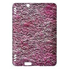 Leaves Pink Background Texture Kindle Fire Hdx Hardshell Case