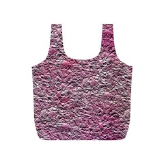Leaves Pink Background Texture Full Print Recycle Bags (s)