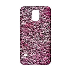Leaves Pink Background Texture Samsung Galaxy S5 Hardshell Case