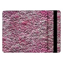 Leaves Pink Background Texture Samsung Galaxy Tab Pro 12 2  Flip Case