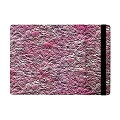 Leaves Pink Background Texture Ipad Mini 2 Flip Cases