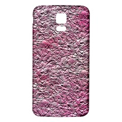 Leaves Pink Background Texture Samsung Galaxy S5 Back Case (white)