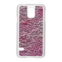 Leaves Pink Background Texture Samsung Galaxy S5 Case (white)