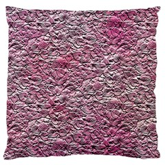 Leaves Pink Background Texture Standard Flano Cushion Case (one Side)