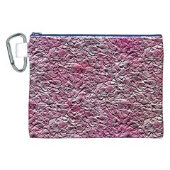 Leaves Pink Background Texture Canvas Cosmetic Bag (xxl)