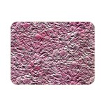 Leaves Pink Background Texture Double Sided Flano Blanket (Mini)  35 x27 Blanket Back