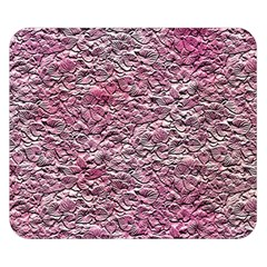Leaves Pink Background Texture Double Sided Flano Blanket (small)