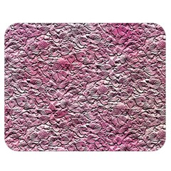 Leaves Pink Background Texture Double Sided Flano Blanket (medium)
