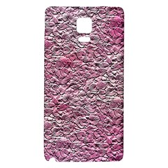 Leaves Pink Background Texture Galaxy Note 4 Back Case