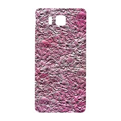 Leaves Pink Background Texture Samsung Galaxy Alpha Hardshell Back Case