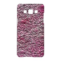 Leaves Pink Background Texture Samsung Galaxy A5 Hardshell Case