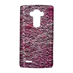 Leaves Pink Background Texture Lg G4 Hardshell Case