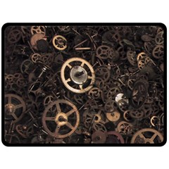 Steampunk Double Sided Fleece Blanket (Large)