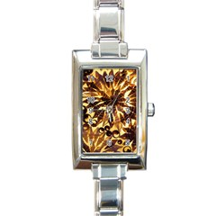 Mussels Lamp Star Pattern Rectangle Italian Charm Watch