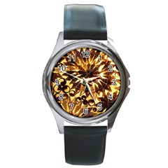 Mussels Lamp Star Pattern Round Metal Watch