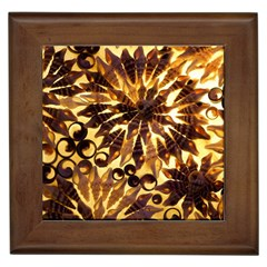 Mussels Lamp Star Pattern Framed Tiles