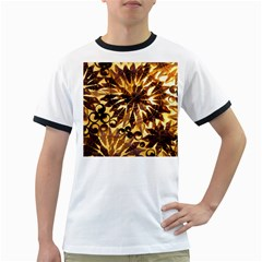 Mussels Lamp Star Pattern Ringer T-Shirts