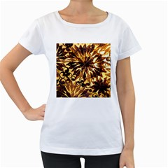 Mussels Lamp Star Pattern Women s Loose Fit T Shirt (white)
