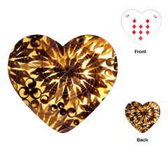 Mussels Lamp Star Pattern Playing Cards (Heart)