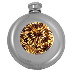 Mussels Lamp Star Pattern Round Hip Flask (5 oz)
