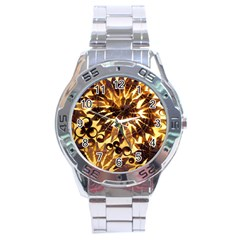 Mussels Lamp Star Pattern Stainless Steel Analogue Watch