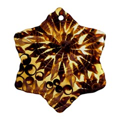 Mussels Lamp Star Pattern Snowflake Ornament (two Sides)