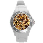 Mussels Lamp Star Pattern Round Plastic Sport Watch (L) Front