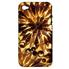 Mussels Lamp Star Pattern Apple Iphone 4/4s Hardshell Case (pc+silicone)